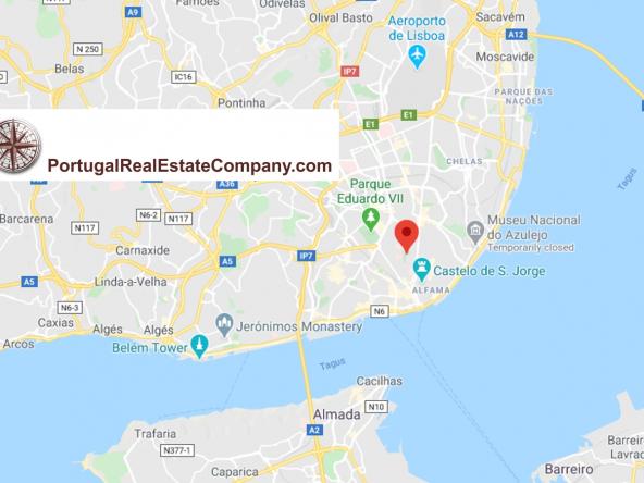 Portugal Real Estate Company PREC Lisbon Map