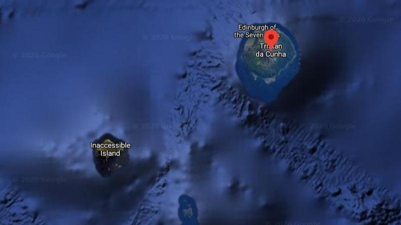 Tristan da Cunha Islands UK Aerial
